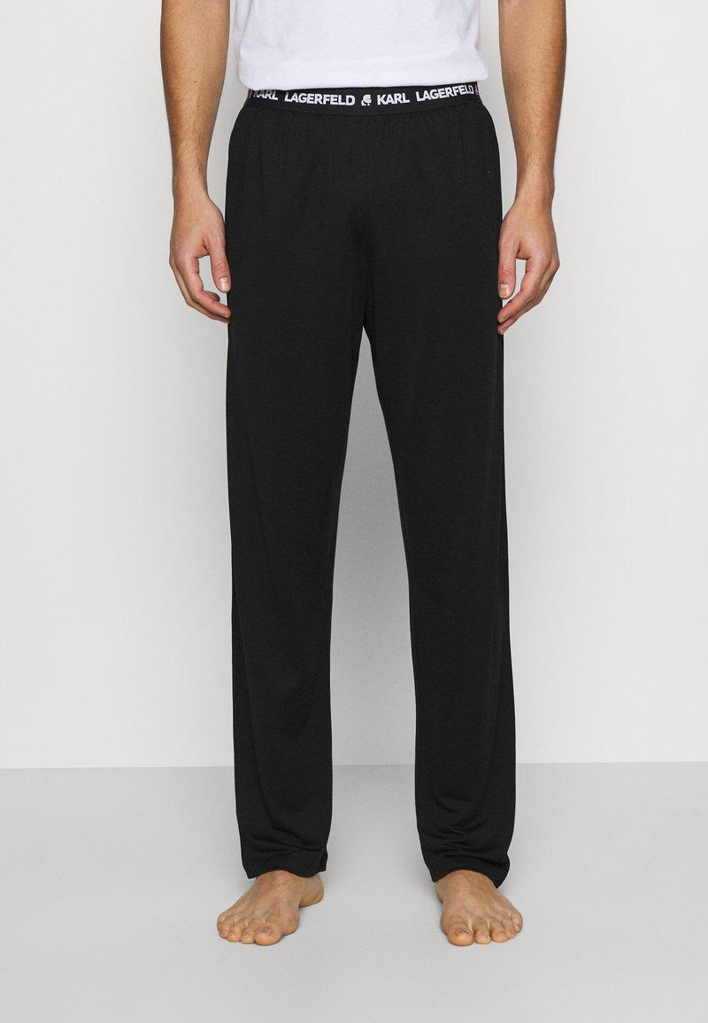 KARL LAGERFELD - LOGO TROUSER - Pyjama bottoms - black