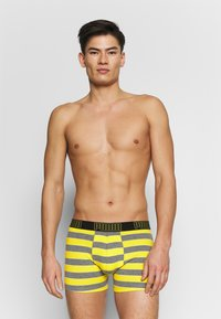 Puma - BOLD STRIPE BOXER 2 PACK - Panties - yellow/grey melange - 2