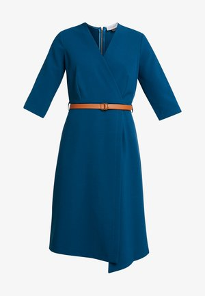 SLEEVE WRAP DRESS - Day dress - blue