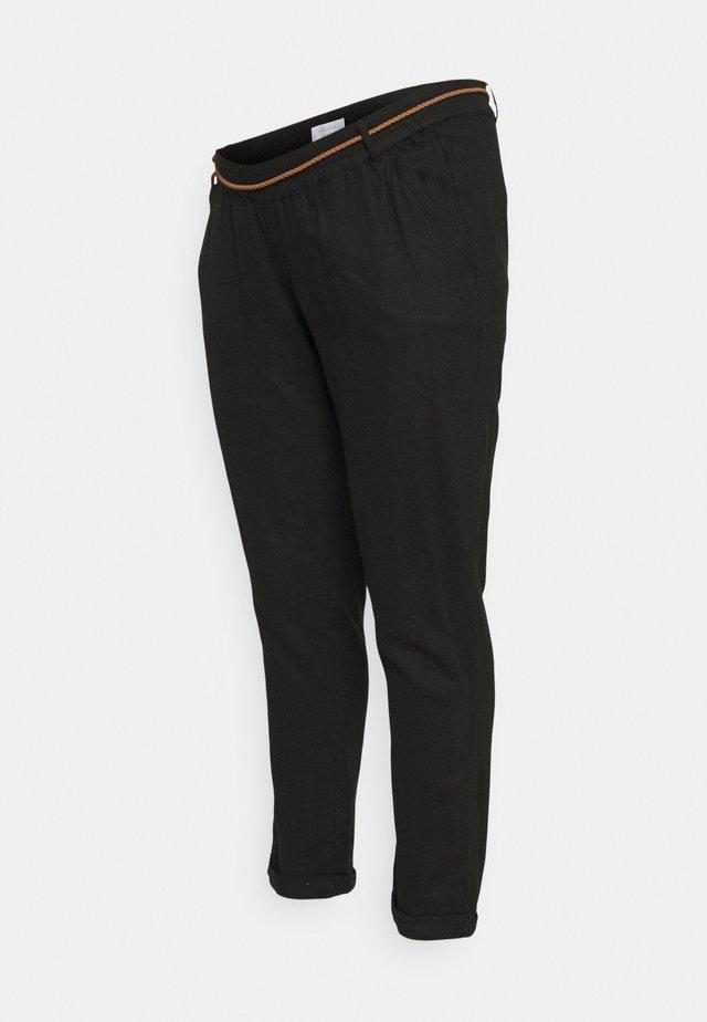 MLBEACH BELT WOVEN PANT - Kalhoty - black