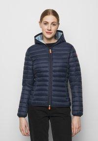 Save the duck - DAISY HOODED JACKET - Winter jacket - navy blue - 0