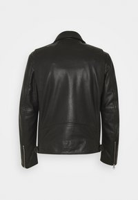 Marc O'Polo - JACKET REGULAR FIT LINED LONGSLEEVE - Leather jacket - black - 1