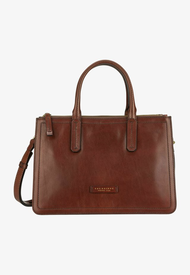 Handbag - marrone/oro