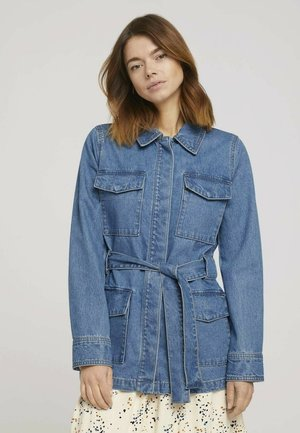 Denim jacket - used mid stone blue denim
