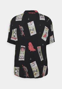 Edwin - TAROT DECK UNISEX - Button-down blouse - black/multi-coloured - 1