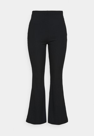 FLARE TROUSER - Trousers - black