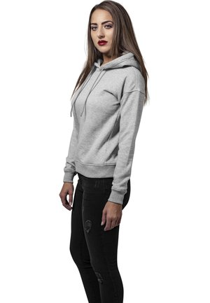 LADIES HOODY - Bluza z kapturem - grey