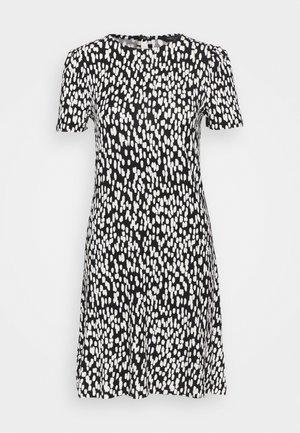 PRINT SWING DRESS - Denní šaty - black
