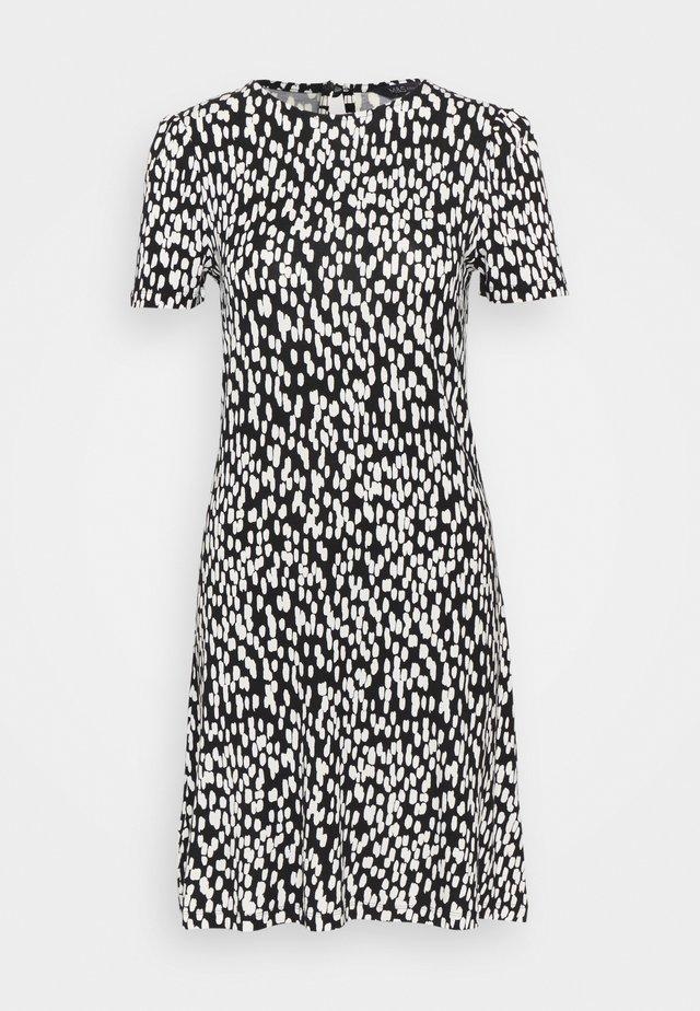 PRINT SWING DRESS - Korte jurk - black