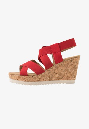 High Heel Sandalette - flame