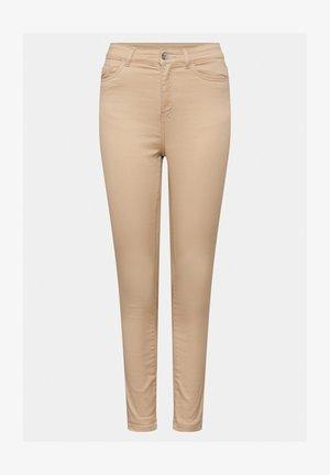 HIGH WAIST  - Trousers - autumn beige