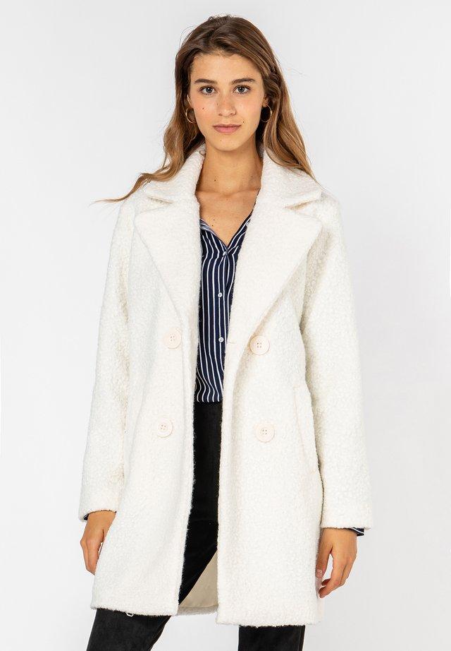 ZWEIREIHIGER TEDDY - Classic coat - white