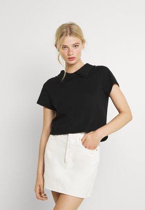 COLLAR TEE - T-shirt con stampa - black