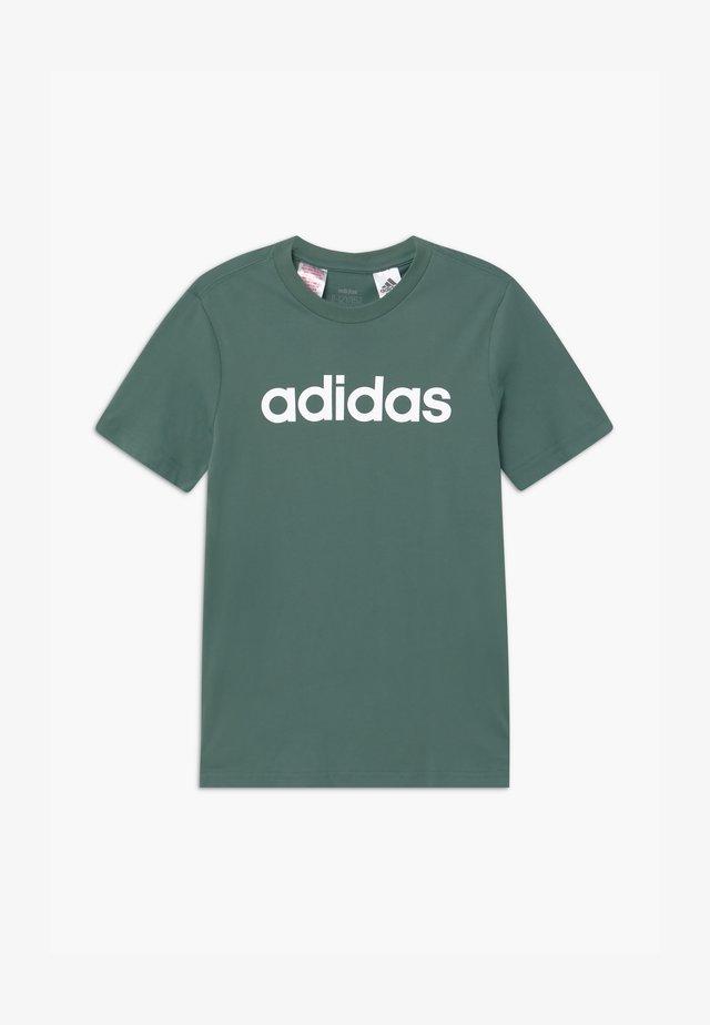 LIN UNISEX - T-Shirt print - teceme/white