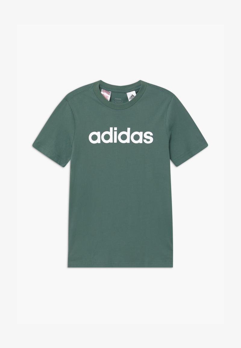 adidas Performance - LIN UNISEX - T-Shirt print - teceme/white