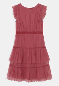 Anaya with love - RUFFLE DRESS WITH TRIM DETAIL - Cocktailjurk - cranberry rose - 0