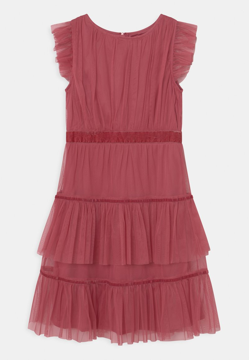Anaya with love - RUFFLE DRESS WITH TRIM DETAIL - Cocktailjurk - cranberry rose