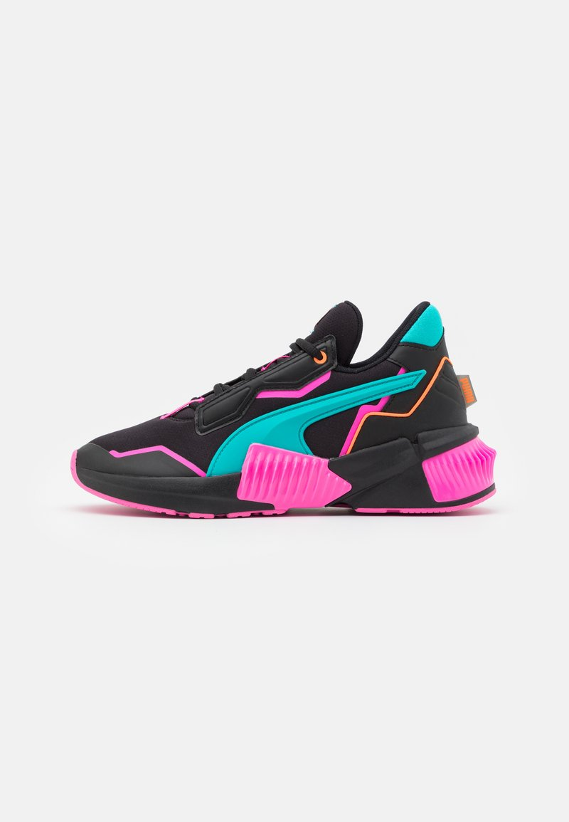 Puma - PROVOKE XT FM XTREME - Sports shoes - black/luminous pink/viridian green