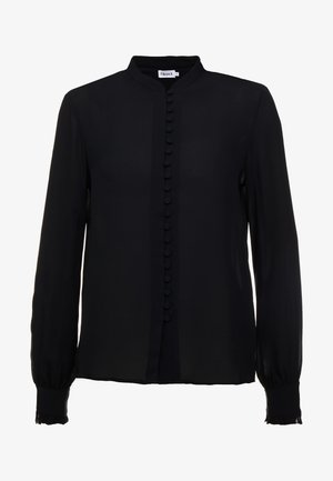 SHEER BUTTON BLOUSE - Button-down blouse - black