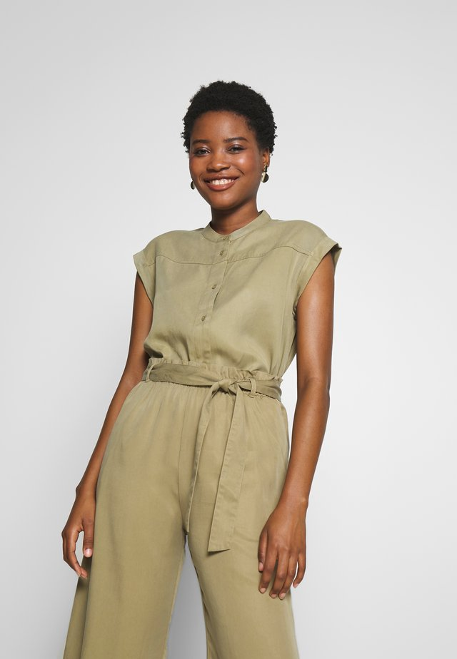 BLOUSE - Button-down blouse - bleached olive