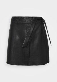 Object - OBJMIMI L SKIRT - Mini skirt - black - 0