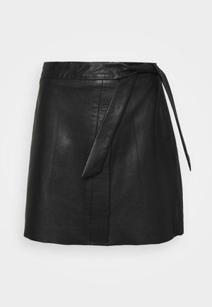 OBJMIMI L SKIRT - Mini skirt - black