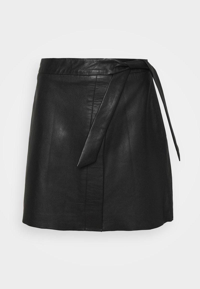 Object - OBJMIMI L SKIRT - Mini skirt - black