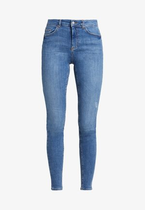 PCDELLY - Slim fit jeans - medium blue denim