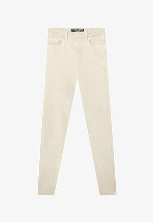HOSE MIT SUPERHOHEM BUND IN FARBEN 01120422 - Skinny džíny - beige