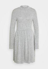 NMALIA BRUSHED DRESS - Jumper dress - light grey melange