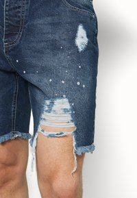 Good For Nothing - DISTRESSED - Denim shorts - blue - 4