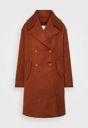 JDYSTORM BIG COLLAR JACKET  - Classic coat - cherry mahogany
