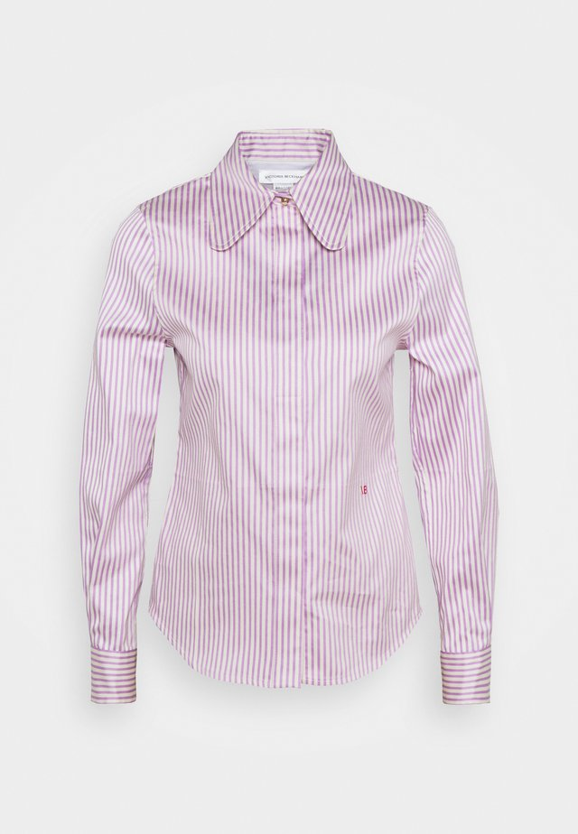 CLUB COLLAR FITTED SHIRT - Blouse - lilac/off white