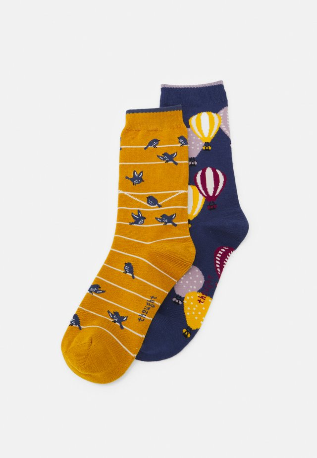 2 PACK - Socks - mineral blue/sunflower yellow
