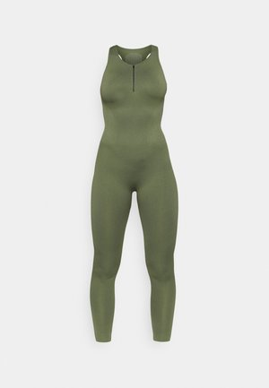 ZIP UP LONG BODYSUIT - Tuta sportiva - green