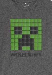 Name it - NKMMINECRAFT  - Print T-shirt - dark grey melange - 2