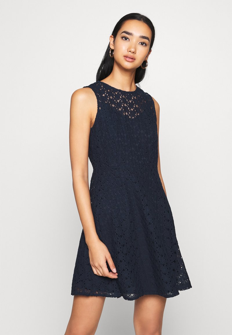Vero Moda - VMALLIE SHORT DRESS - Day dress - navy blazer