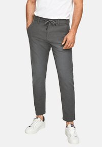 Q/S designed by - SLIM FIT - Trousers - anthracite - 3