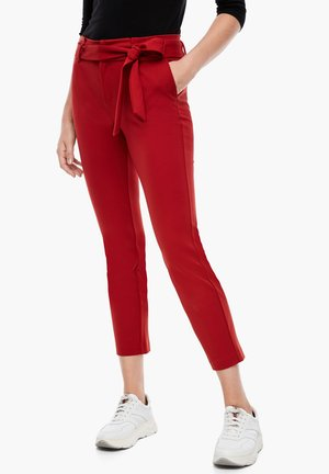 Trousers - dark red