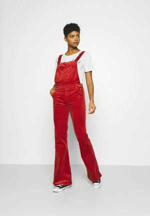 BREESE BIB - Dungarees - red ocre