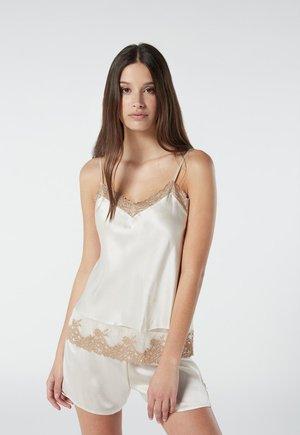 PRETTY FLOWERS - Pyjama top - elfenbein - vanilla ivory/beige
