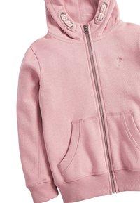 Next - FLURO - Zip-up hoodie - mottled light pink - 2