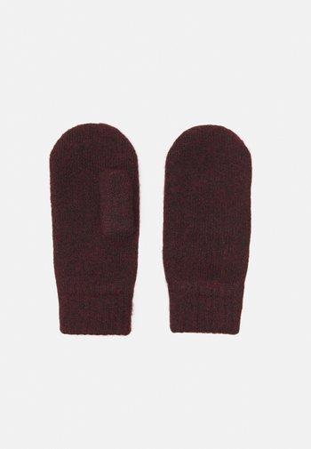 PCBERTA NOOS BC - Rękawiczki z jednym palcem - red mahogany