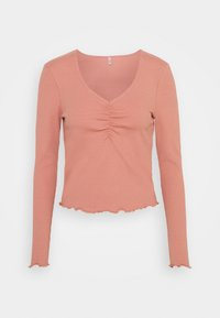 ONLY - ONLNUVELLA LIFE VNECK - Maglietta a manica lunga - old rose - 0