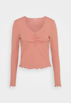 ONLNUVELLA LIFE VNECK - Long sleeved top - old rose