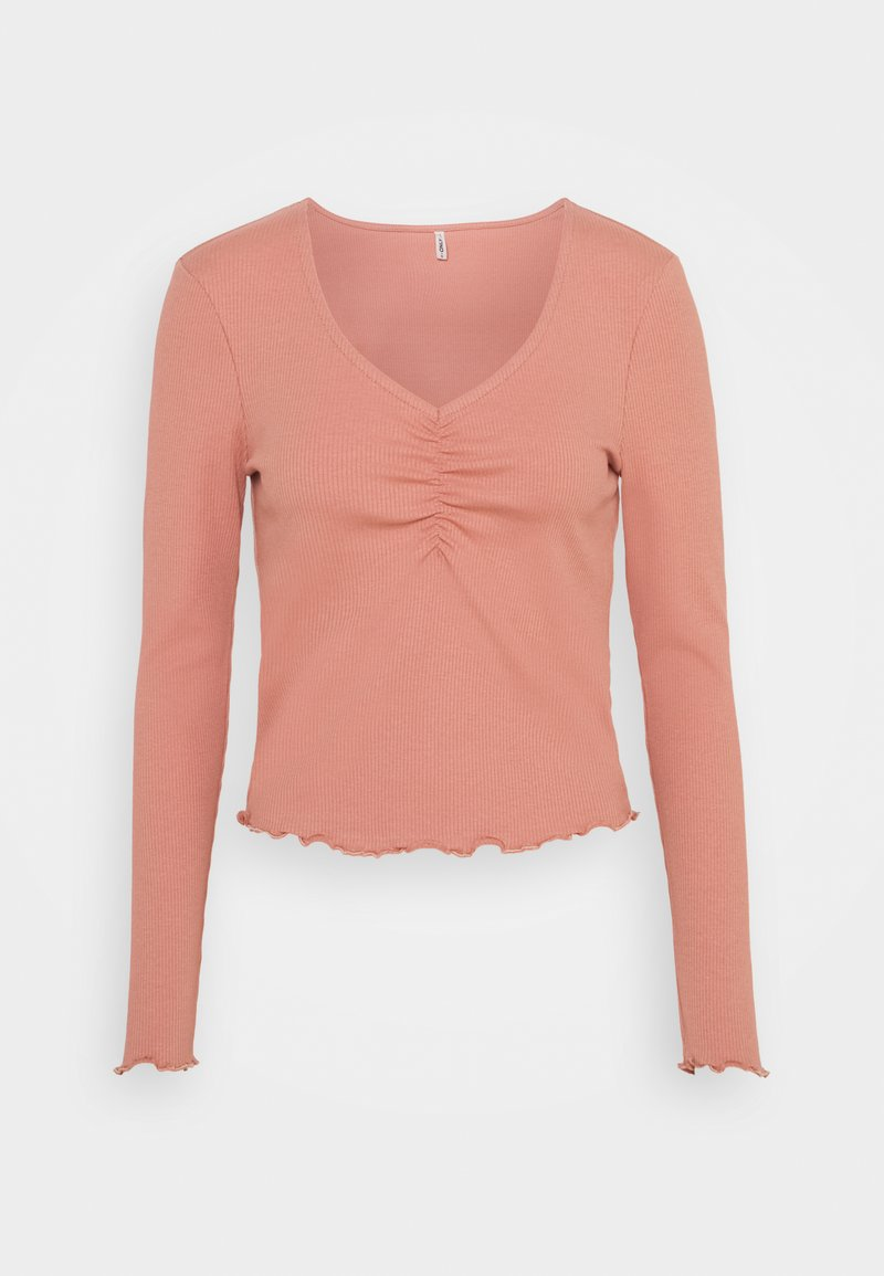 ONLY - ONLNUVELLA LIFE VNECK - Maglietta a manica lunga - old rose
