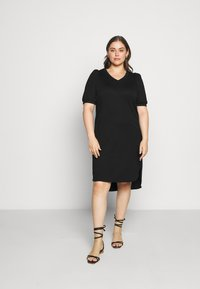 JUNAROSE - by VERO MODA - JRCHASE HIGH LOW DRESS - Shift dress - black - 1