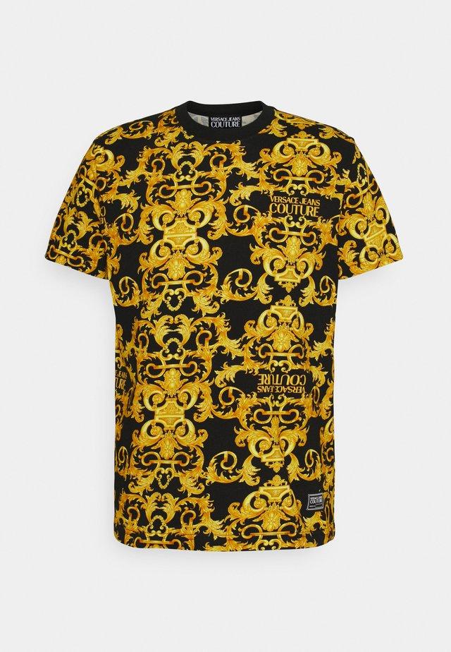 STRETCH LOGO BAROQUE - T-shirt med print -  black