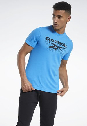 GRAPHIC T-SHIRT - T-shirt imprimé - blue