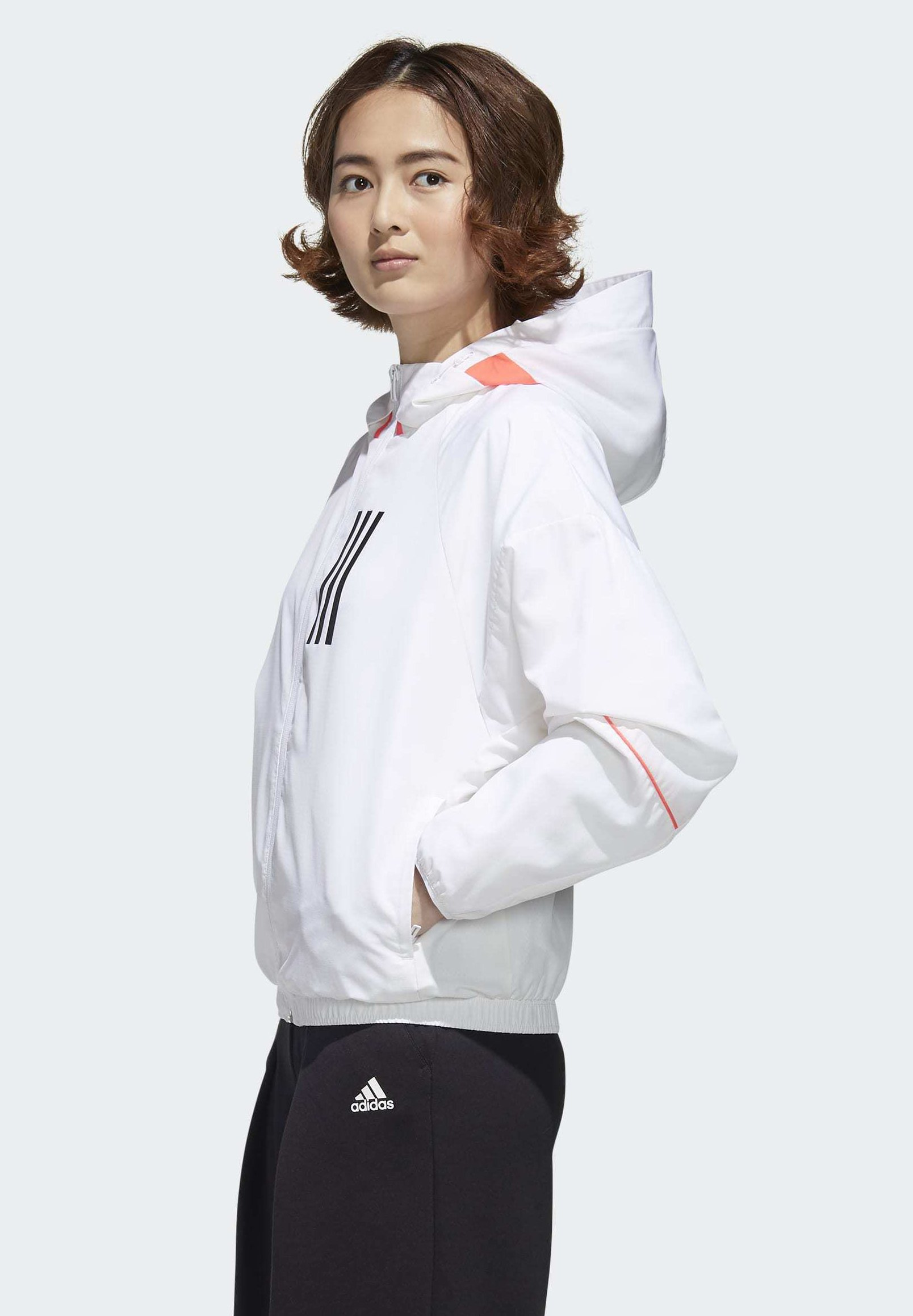 adidas Performance Soft shell jacket - white/black o2xpb